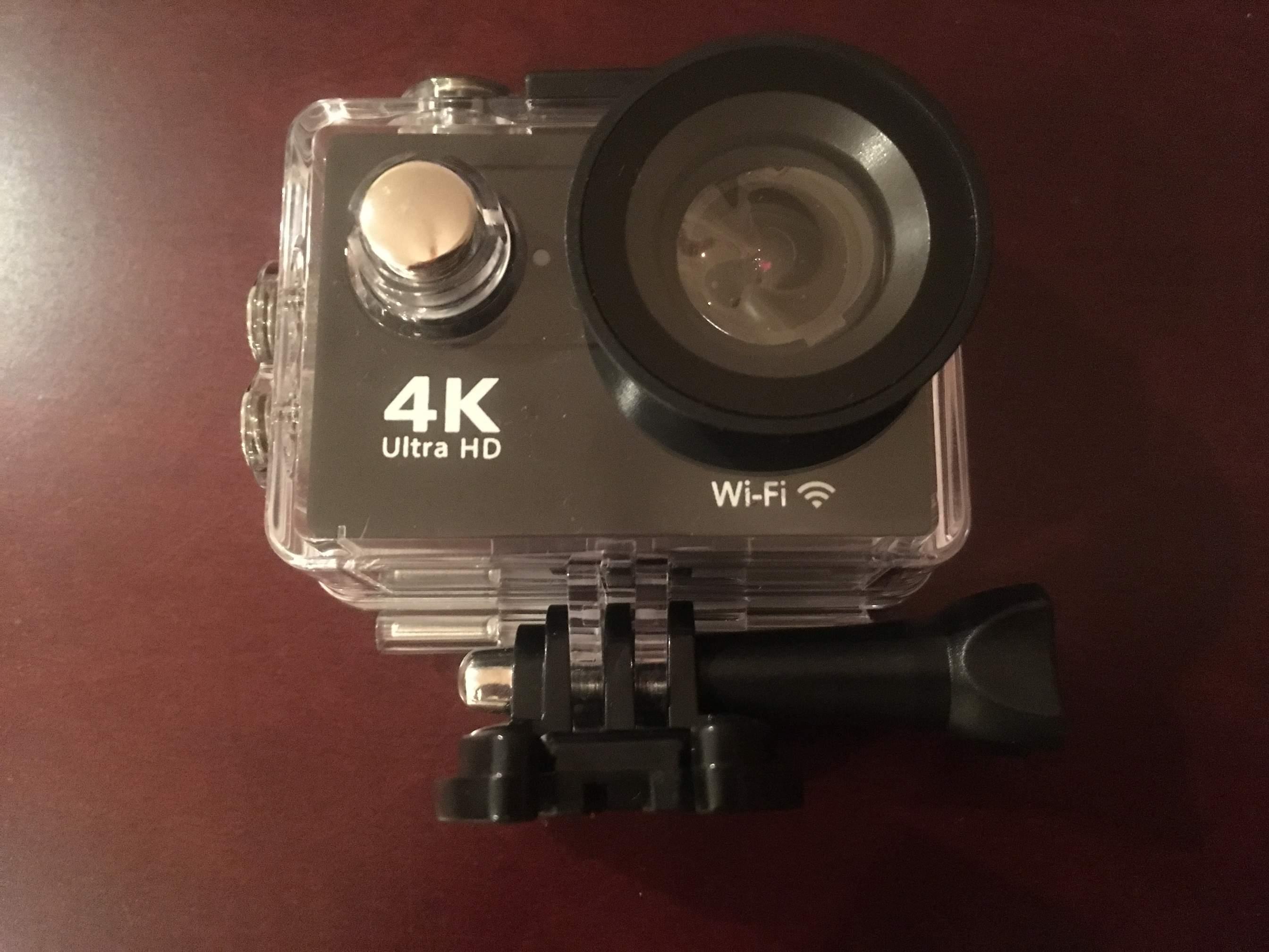 Greatever 4K action camera inside case